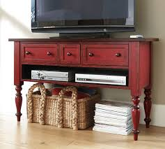 Pottery Barn Benchwright Media Leena Media Console Pottery Barn Love This Distressed Red Color