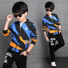 click to buy big children boys print clothes