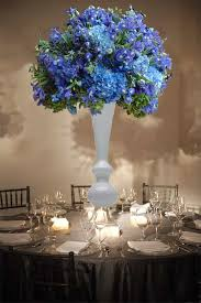 nice blue wedding centerpieces shades of blue wedding centerpiece