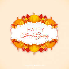 happy thanksgiving label vector premium