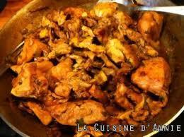 cuisine girolles recette poulet aux girolles la cuisine familiale un plat une