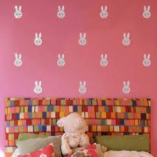 popularne diy wall murals kupuj tanie diy wall murals zestawy od funlife krolik projekt skorki i trzyma diy mural naklejki cienne dla dzieci pokoj dekoracji lv061