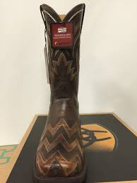 women u0027s on point ariat wide square toe with brown chevron detail