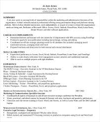 Samples Of Resumes For Administrative Assistant Positions by 7 Legal Administrative Assistant Resume Templates U2013 Free Sample