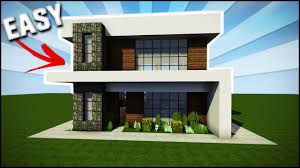 Modern House Minecraft Minecraft House Tutorial Easy Simple Modern House Best House