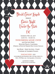 breast cancer angels presents casino night under the stars at enc