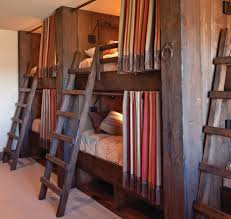 Rustic Wooden Beds Cabin Bunk Beds Bedroom Rustic With Bunk Beds Wood Bunks Bed Curtains