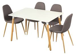 table et 4 chaises table 4 chaises otis blanc chene
