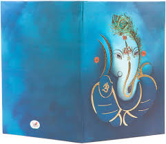 Wedding Invitation Cards Hindu Hindu Wedding Card In Blue With Radha Krishna Rasleela Images
