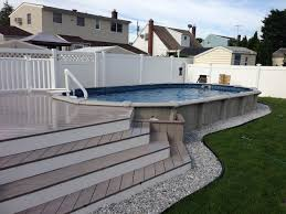 mini inground pools above ground pools semi inground pool pool