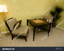 Modern Chess Table Chess Table And Chairs Two Comfortable Chairs With A Table