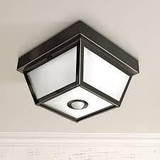 Motion Sensing Ceiling Light Benson Black 9 1 2 Wide Motion Sensor Outdoor Ceiling Light