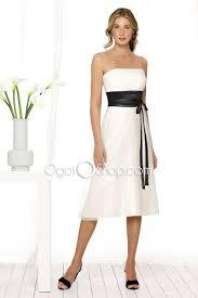 simple summer white garden wedding bridesmaid dress with black