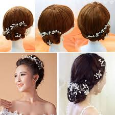 pearl headpiece 4 pieces bridal hair accessories headpiece jewelry onnorokomgift