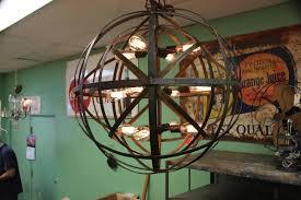 Industrial Lighting Chandelier Industrial Metal Hanging Lantern Globe The Lighting Palace