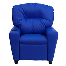 comfy vinyl recliner chair for kids with cup holder