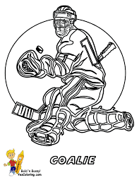 hockey goalie coloring pages hat trick hockey coloring sheets free
