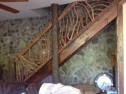 Wooden Stair Banisters Rustic Handrails For The Home Options And Materials For Railings
