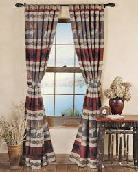 English Country Window Treatments by Rustic Curtains Cabin Window Treatments