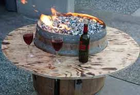wine barrel fire table convert a wine barrel into a safe outdoor firepit