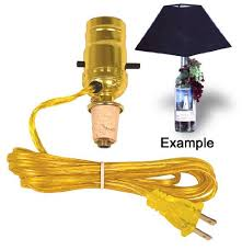 Lamps Made From Bottles Easy Lamp Kit Turns A Wine Bottle Into An Instant Lamp Lot Of 2