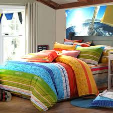 Red And Yellow Duvet Covers Sky Blue Green And Yellow Red Multi Stripe Print And Monogrammed