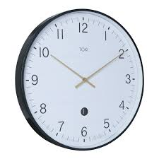 wall clocks buy toki mina white silent sweep wall clock with date 40cm online