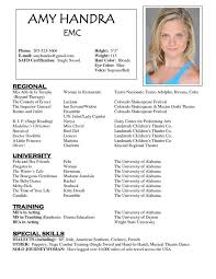 Modeling Resume Sample Child Resume Sample Model Resume Template To Inspire You How To