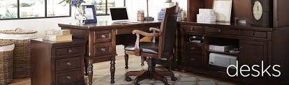 Desks For Office At Home Home Office Desks Writing Desks Mathis Brothers