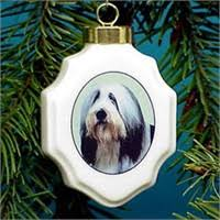 bearded collie ornaments