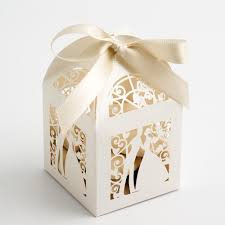 and groom favor boxes ivory filigree and groom favour boxes at favour this