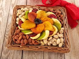 fruit and nut gift baskets dried fruit nut tray
