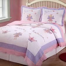 Girls Bedroom Quilt Sets Amazon Com Fairy Princess Garden Twin Quilt With Pillow Sham