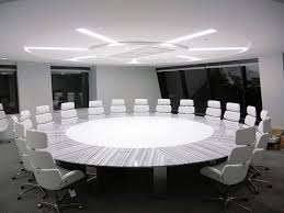 Large White Meeting Table Modern Conference Table Ambience Doré