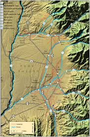 Map Of Rio Grande River Acequia Close Up