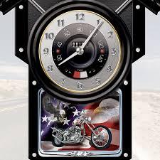 biker apparel amazon com motorcycle themed collectible wooden cuckoo clock