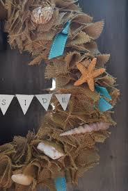 gallamore west burlap wreath with seashells