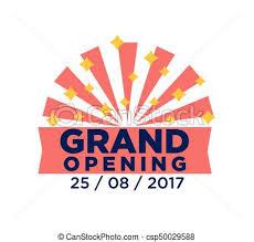 grand opening ribbon grand opening ribbon or label design for celebration event