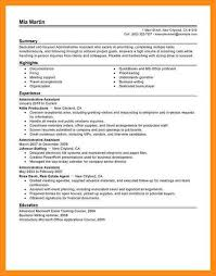 Sample Resume Administrative Support Example Resume For Administrative Assistant Administrative