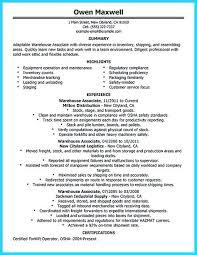 Warehouse Packer Resume Resume Examples For Warehouse Warehouse Amusing Monster Resume