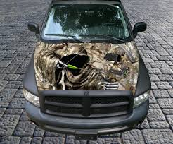 grim reaper bow hunter camo vinyl graphic decal sticker wrap truck