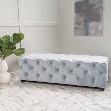 Light Grey Tufted Sofa by Ottomans U0026 Benches Costco
