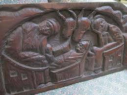 haitian wood carving by berrier duperrier 1960 s nativity from