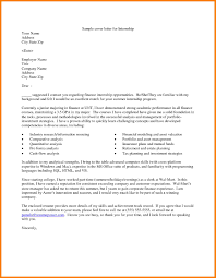 11 internship cover letter sample precis format