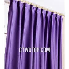 Thick Purple Curtains Heavy Thick Blackout No Pattern Simple Cheap Curtains