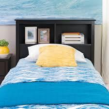 amazon com black twin bookcase headboard