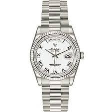 rolex bracelet white gold images Rolex day date white roman dial fluted bezel president bracelet jpg
