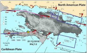 United States Fault Lines Map by Haiti Dominican Republic May Be Entering Big Earthquake Period