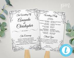 Fan Wedding Program Template Rustic Wedding Program Fan Template Fan Wedding Program