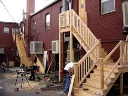 Exterior Stair Railing by Accessories Alluring Deck Stairs And Steps Outdoor Design
